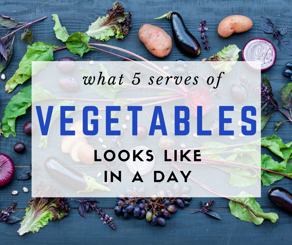 What 'Five Serves Of Vegetables A Day' Actually Looks