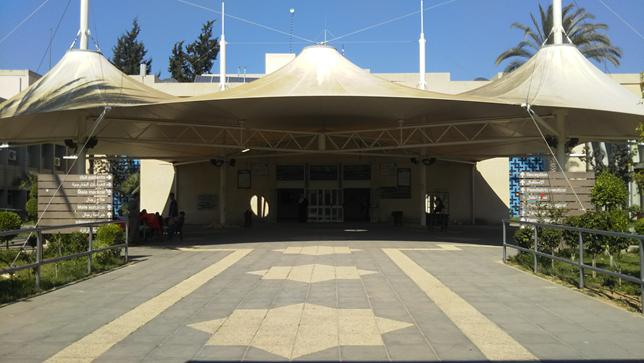ガザ・ヨーロッパ病院の入口
