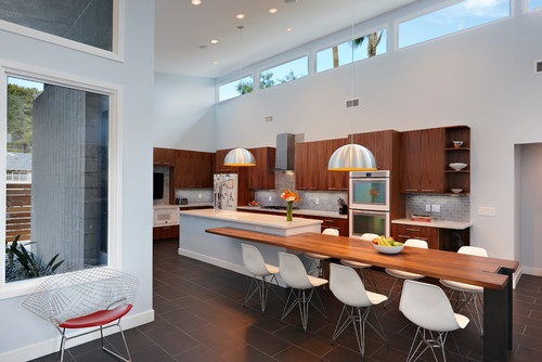 kitchen of remodeled las vegas midcentury home