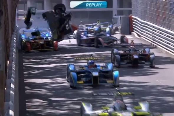 Bruno Senna Formula E crash