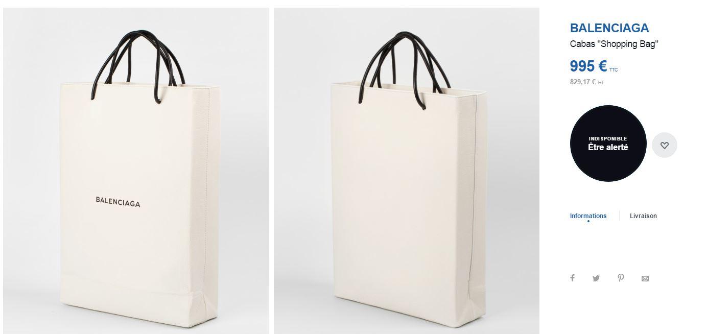 Ce sac Balenciaga à 995€ ressemble aux sacs en papier donnés dans ... cc75682527e