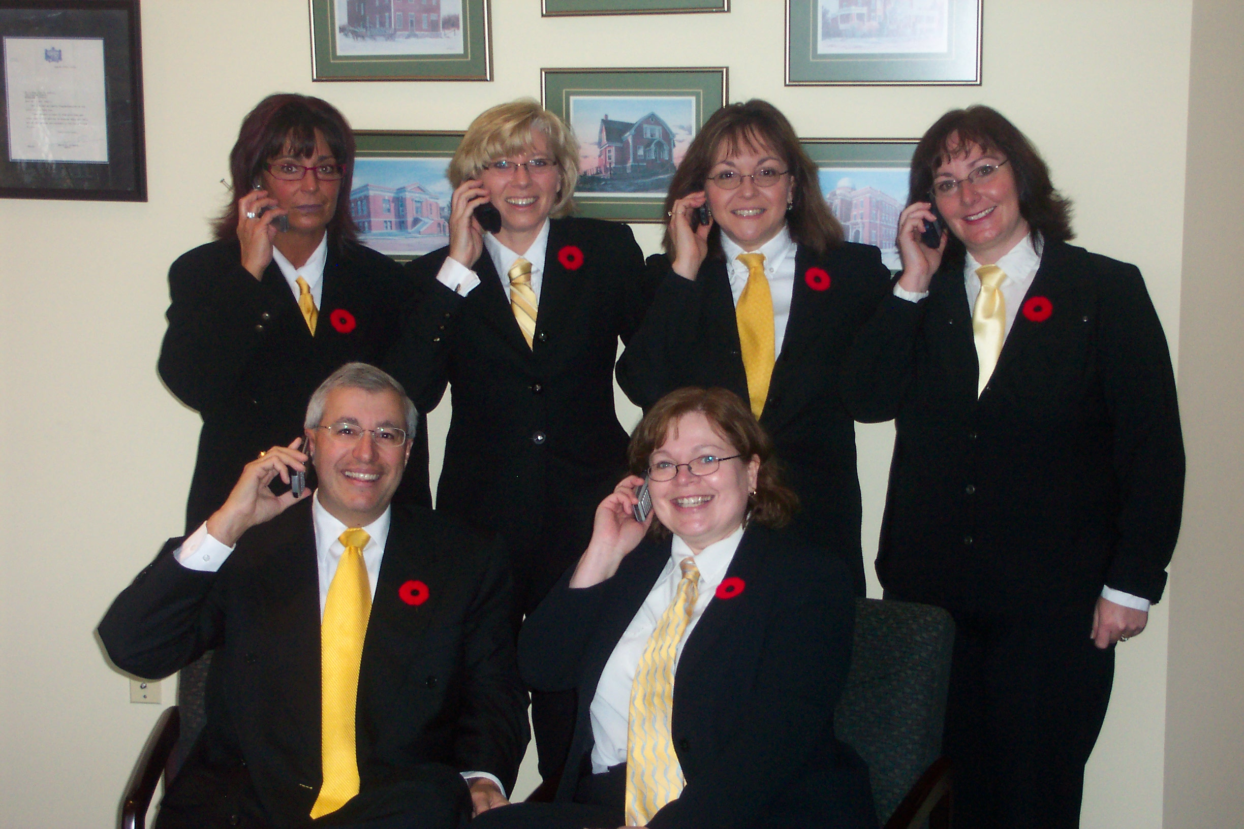 Vic Fedeli with his mayoral staff from when he was North Bay, Ont.