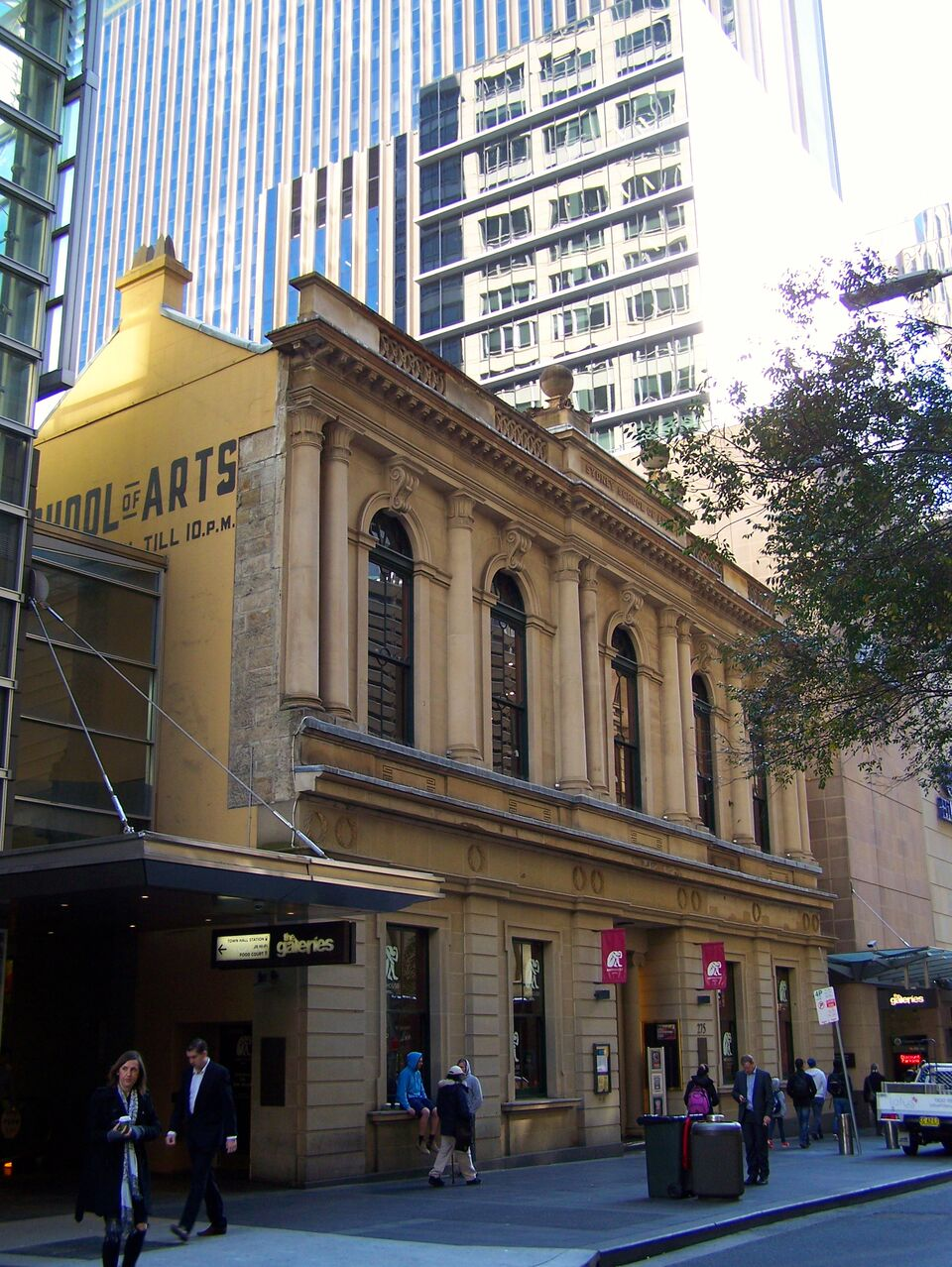 The current Arthouse Hotel on Pitt Street was once the 'School of Arts' where Cora Anna Weekes spoke...