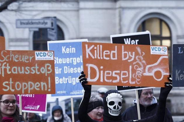ドイツの都市は古いディーゼル車の走行を直ちに禁止可能に