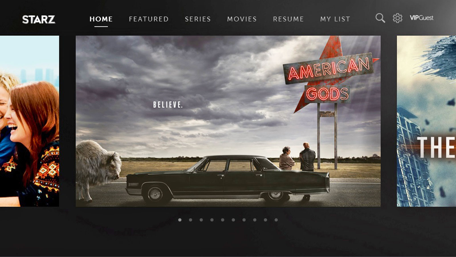 Starz app streams 'American Gods' to your Samsung Smart TV