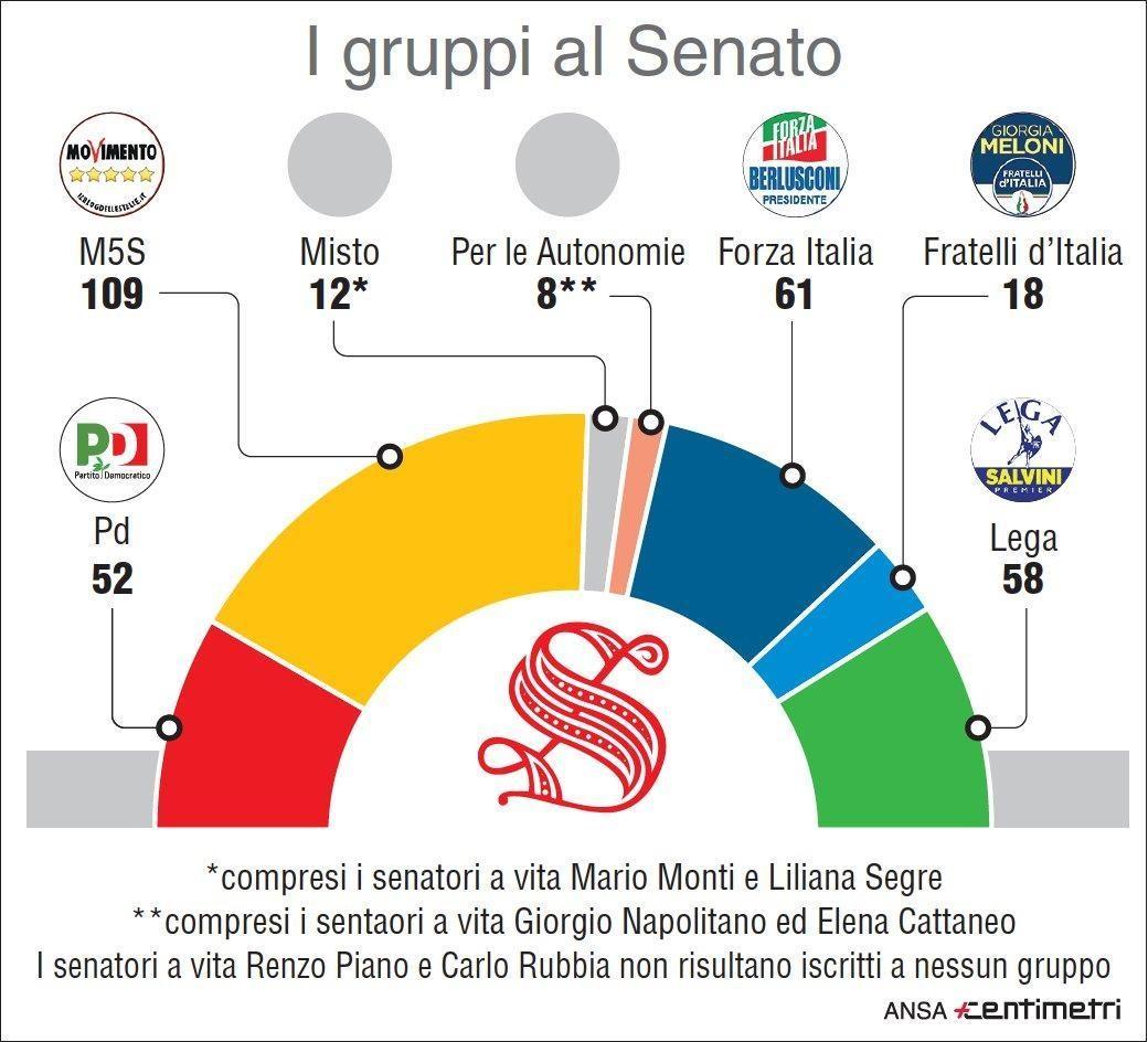 Quanti voti mancano al governo neutrale proposto da for Nuovi gruppi parlamentari