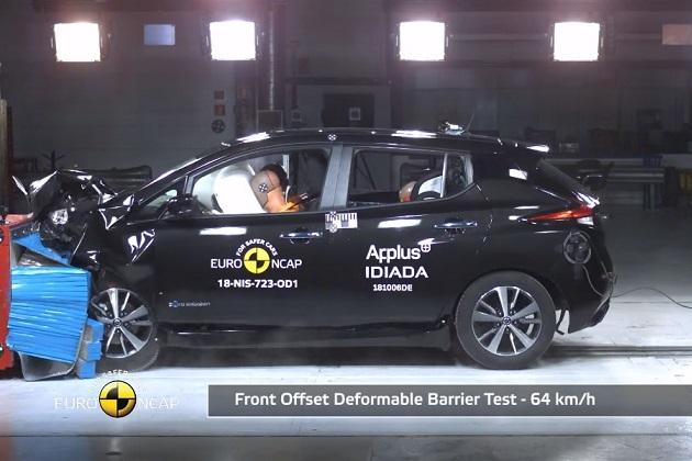 【ビデオ】新型日産「リーフ」が、ユーロNCAPの衝突テストで5つ星! シボレー「ボルト(Bolt)」のスコアを上回る
