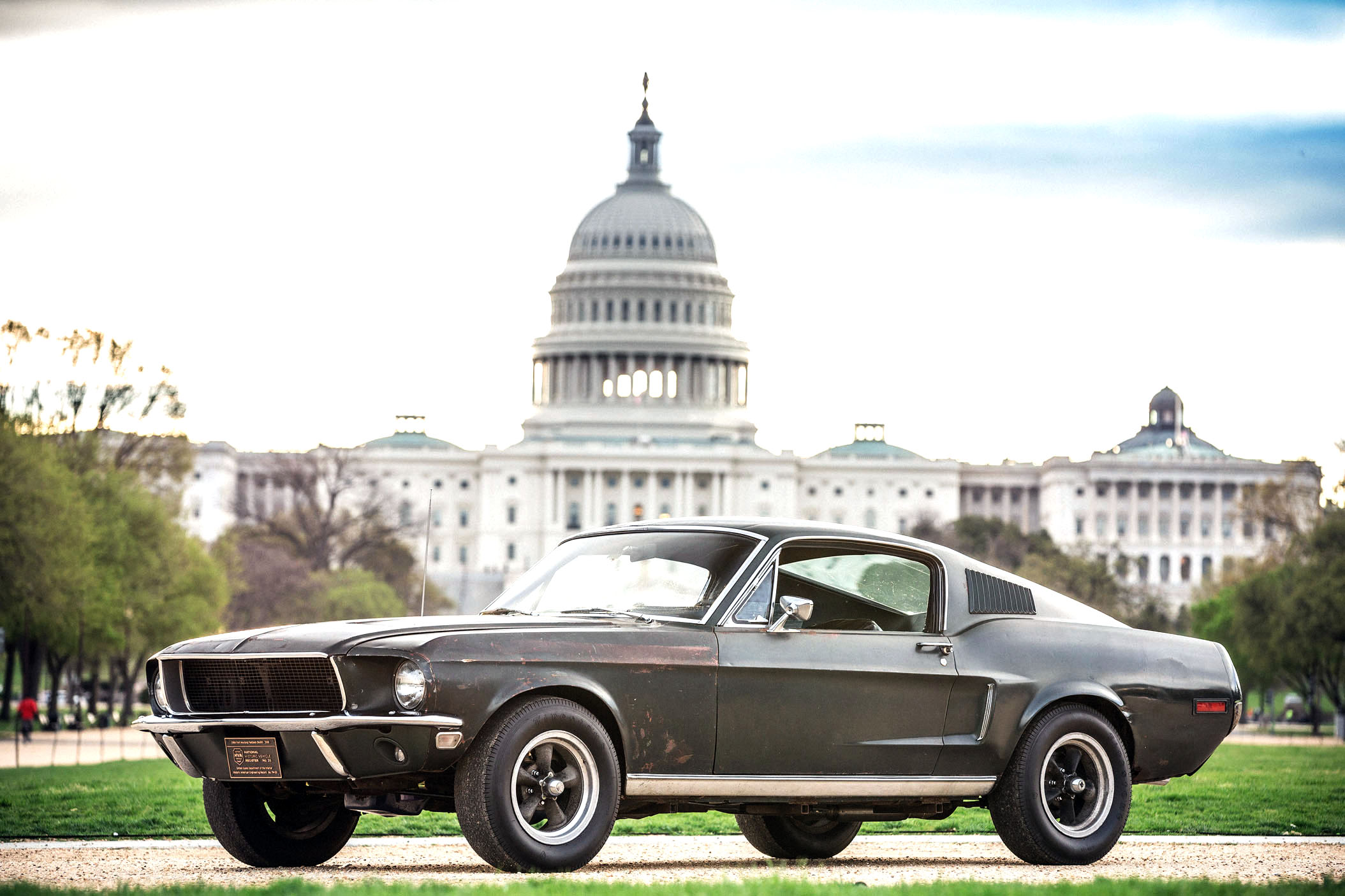"""Once considered lost forever, the original 1968 Ford Mustang GT from the Warner Bros. movie """"Bullitt"""" is headed for Washington, D.C. The iconic car will be on display at the National Mall in celebration of Mustang's 54th birthday and the 50th anniversary of """"Bullitt."""""""