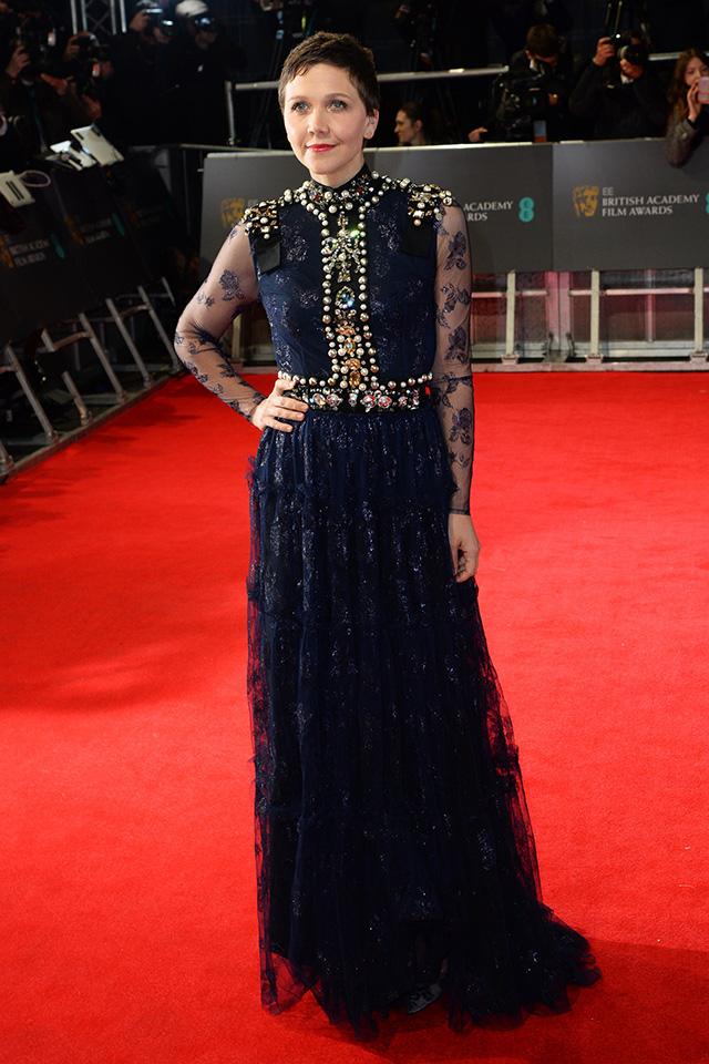 Maggie Gyllenhaal attends the BAFTAs