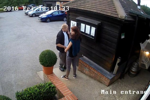 The couple as caught on CCTV