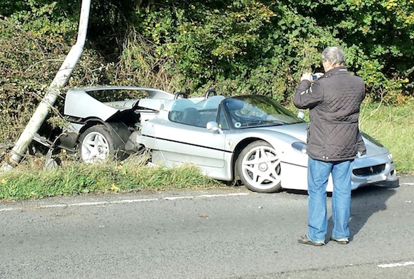 Ferrari, f50, crash, a34