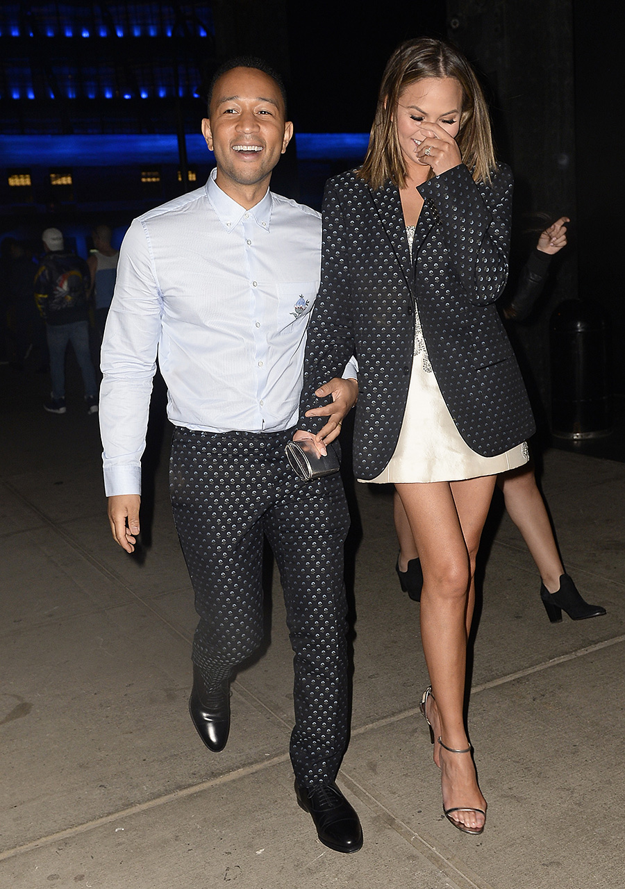EXCLUSIVE: Chrissy Teigen and John Legend are all smiles as they head out to party in New York City, New York, USA.  <P> Pictured: Chrissy Teigen and John Legend <B>Ref: SPL1484229  240417   EXCLUSIVE</B><BR/> Picture by: Splash News<BR/> </P><P> <B>Splash News and Pictures</B><BR/> Los Angeles:310-821-2666<BR/> New York:212-619-2666<BR/> London:870-934-2666<BR/> photodesk@splashnews.com<BR/> </P>