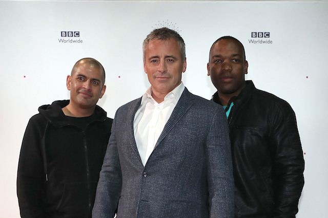 Top Gear presenters, Chris Harris (left), Matt LeBlanc (centre) and Rory Reid attend the showcase gala for BBC Worldwide in at the ACC Liverpool.