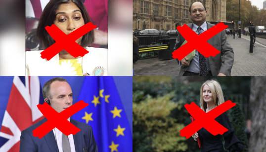 Cascada de dimisiones este jueves en el gobierno de Theresa