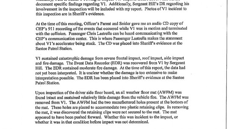 San Diego County Sheriff's Department Incident Report: Saylor Family