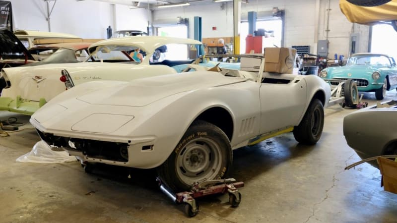 Peter Max Corvette collection | Behind the scenes restoration | Autoblog