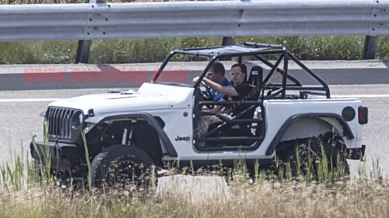heavily modified 2019 jeep wrangler spied at chrysler test track