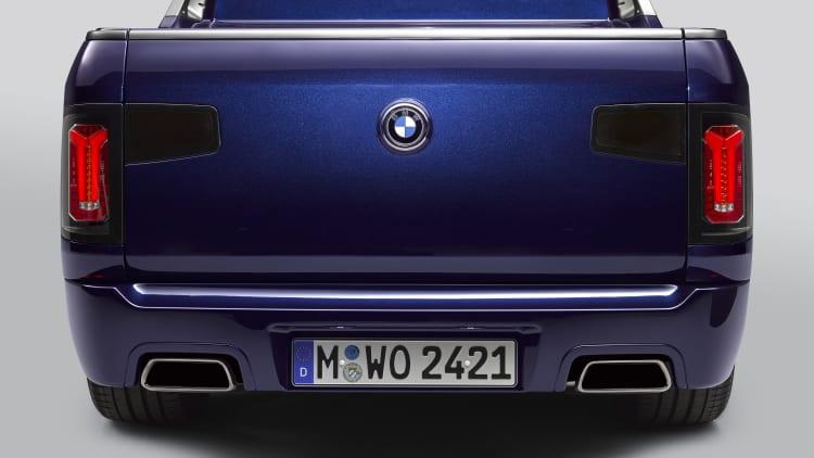 BMW X7 pickup concept is a badass motorcycle hauler | Autoblog
