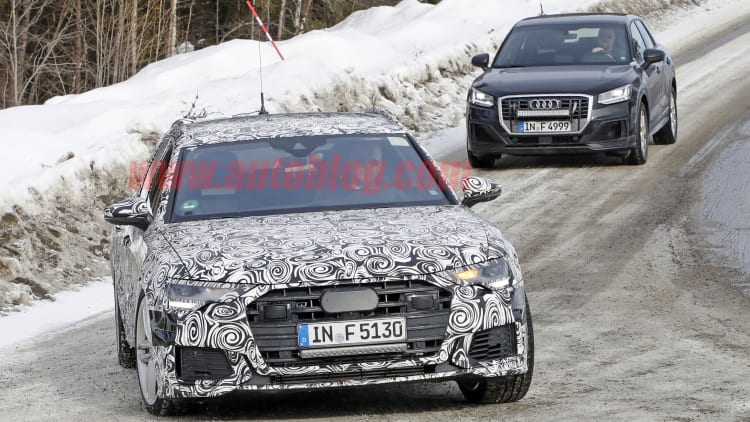 Audi S6 Avant wagon spied testing in the snow | Autoblog