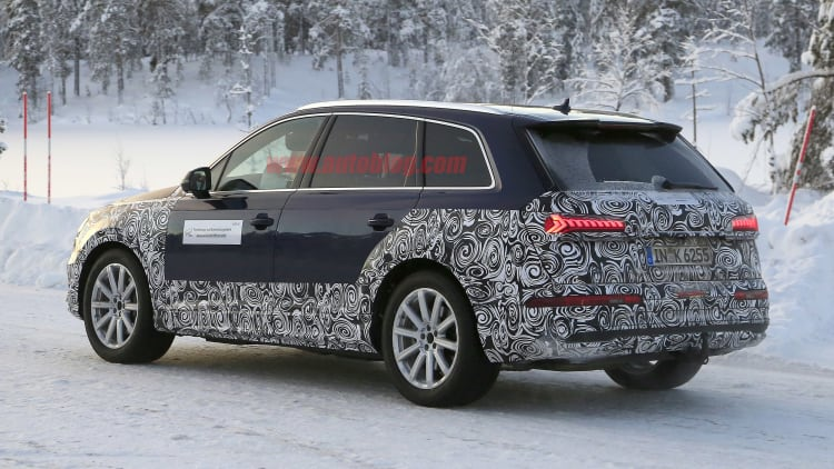 2020 Audi Q7 prototype spied with refreshed styling | Autoblog