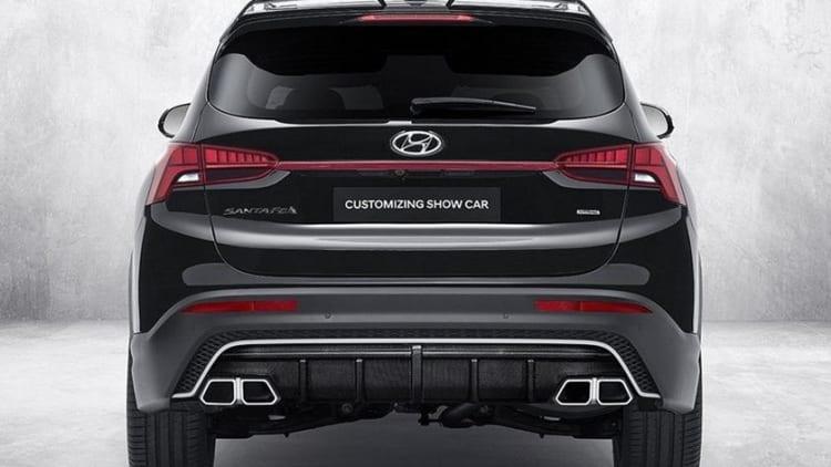2021 Hyundai Santa Fe N Performance Parts Introduced Autoblog