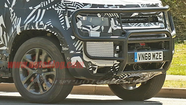2020 Land Rover Defender hybrid spied with a winch | Autoblog