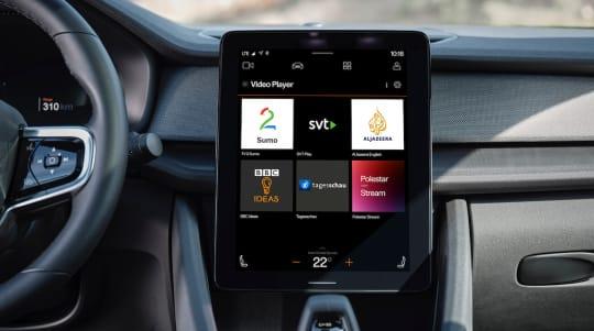 Video streaming app developed for Polestar 2