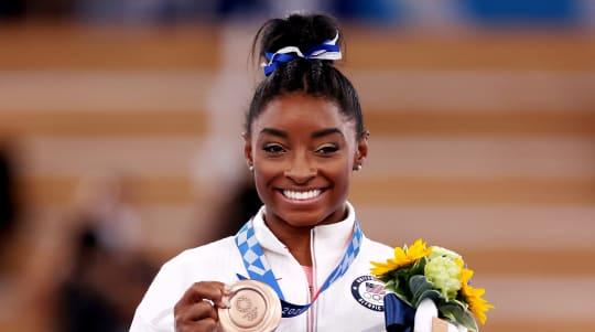 Simone Biles thanks secret Japanese gym where she trained during Olympics