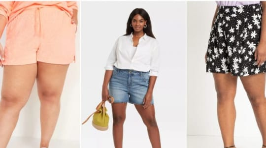 6 plus-size shorts for summer
