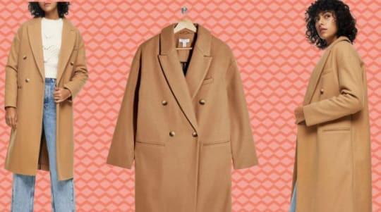 This double-breasted coat that keeps selling out at Nordstrom is back in stock