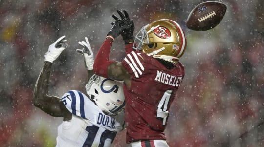 Colts and 49ers battle through rainstorm