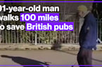 91-year-old man walks 100 miles to save Britain's pubs