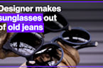 Incredible video shows designer making sunglasses out of old jeans