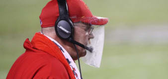 Andy Reid's face shield makes it to the Hall of Fame