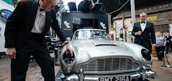 Aston Martin armed with machine guns takes centre stage in James Bond exhibition