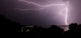 Lightning strike sets houses on fire