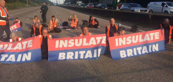 Police arrest 23 people after protesters block lanes on M25