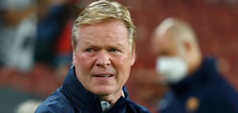 Barcelona boss Ronald Koeman refuses to answer questions in a press conference