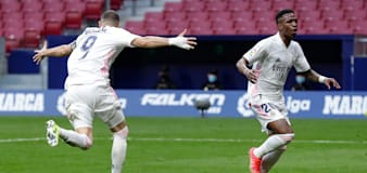 Atletico Madrid pegged back by city rivals Real with late Karim Benzema goal