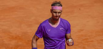 Rafael Nadal comes back from the brink to continue progress in Rome