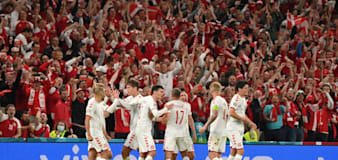 Denmark book last-16 meeting with Wales after beating Russia in Copenhagen