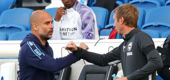 Pep Guardiola not thinking about revenge as Man City prepare for Brighton return