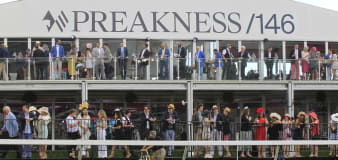 Rombauer outduels Medina Spirit for Preakness victory