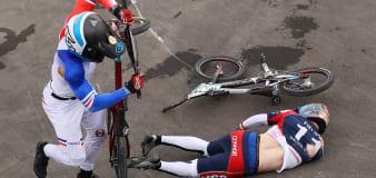 U.S. BMX favorite carried off on stretcher after crash