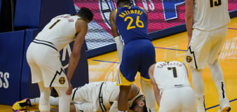 Nuggets star suffers brutal knee injury, out for season