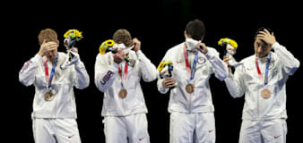 Fencer mirrors fellow U.S. Olympian's protest