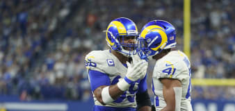 Rams LB Kenny Young ejected for making contact with ref