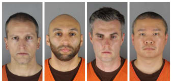 Ex-cops charged in Floyd death want away from Chauvin