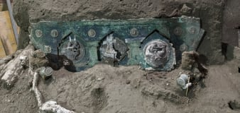 Archeologists find intact chariot near Pompeii