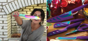 These rainbow knife sets are just too beautiful